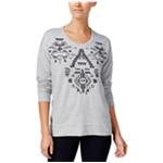 Style&co. Womens Embroidered Embellished Sweatshirt