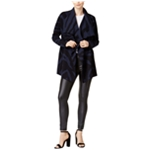 bar III Womens Draped Printed Cardigan Blazer Jacket