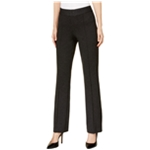 I-N-C Womens Faux-Leather-Trim Casual Trousers