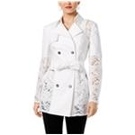 I-N-C Womens Lace-Inset Coat