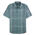 Alfani Mens Kirk Multi-Plaid Button Up Shirt
