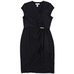Charter Club Womens Faux Wrap Dress