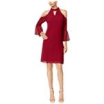 Thalia Sodi Womens Cold-Shoulder Shift Dress