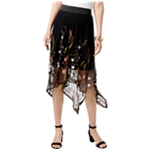 I-N-C Womens Embroidered A-line Skirt
