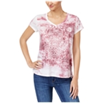 Style & Co. Womens Tie-Dyed Hamsa Graphic T-Shirt