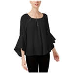 I-N-C Womens Bell Sleeve Knit Blouse