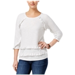 Style & Co. Womens Tiered Ruffled Blouse