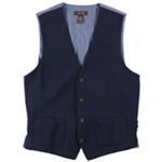 Tasso Elba Mens Colorblocked Four Button Vest