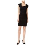 bar III Womens Asymmetrical Sheath Dress