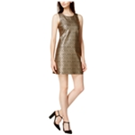 maison Jules Womens Metallic Fit & Flare Dress