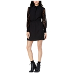 maison Jules Womens Lace Contrast Shirt Dress