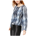 bar III Womens Flared Sleeve Knit Blouse