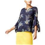 Thalia Sodi Womens Floral Knit Blouse