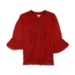 Charter Club Womens Pintucked Pullover Blouse