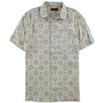 Tasso Elba Mens Island Medallion-Print Button Up Shirt
