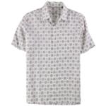 Tasso Elba Mens Medallion Button Up Shirt