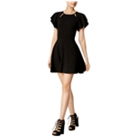 bar III Womens Cutout Crepe Fit & Flare Dress