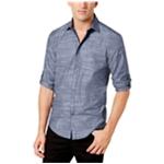 Alfani Mens Parktron Stripe Button Up Shirt
