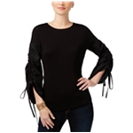 I-N-C Womens Runched Sleeve Knit Blouse