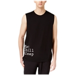 bar III Mens Eat Chill Sleep Tank Top