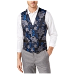 I-N-C Mens Brocade Five Button Vest
