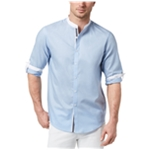 I-N-C Mens Contrasting Collar Button Up Shirt