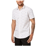 I-N-C Mens Printed Button Up Shirt