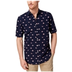 Club Room Mens Fish Button Up Shirt
