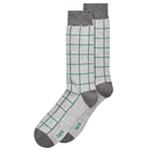 bar III Mens Windowpane Midweight Socks
