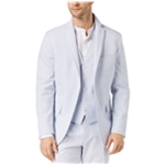 I-N-C Mens Crinkled Pin Stripe Two Button Blazer Jacket