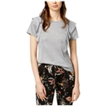 bar III Womens Ruffled Basic T-Shirt