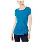 I-N-C Womens Twist Front Basic T-Shirt