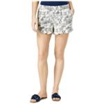 maison Jules Womens Ruffled-Cuff Casual Mini Shorts