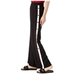 bar III Womens Snap Detail Athletic Track Pants