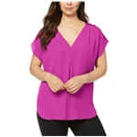 I-N-C Womens Mixed-Media Pullover Blouse