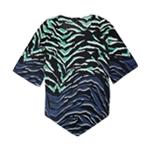 Alfani Womens Zebra Print Tunic Blouse