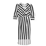 bar III Womens Striped Wrap Dress