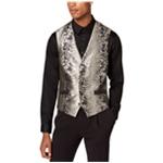 I-N-C Mens Patterned Four Button Vest