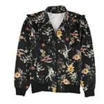 bar III Womens Ruffled Jacket