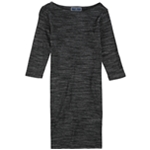 Karen Scott Womens Heathered Sheath Dress