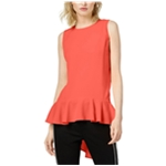 bar III Womens High-Low Peplum Blouse
