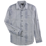 Alfani Mens Abstract Button Up Shirt