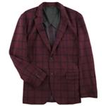 Tasso Elba Mens Checkered Two Button Blazer Jacket