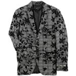 I-N-C Mens Flocked Two Button Blazer Jacket