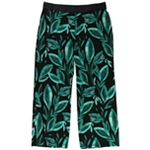 Alfani Womens Printed Casual Wide Leg Pants