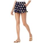 maison Jules Womens Yellow Flowers Casual Mini Shorts