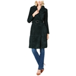 I-N-C Womens Solid Trench Coat