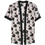 Alfani Womens Printed Sheer Kimono Knit Jacket