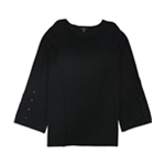 Alfani Womens Buttoned Sleeve Pullover Sweater