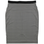 Alfani Womens Houndstooth Midi Skirt
